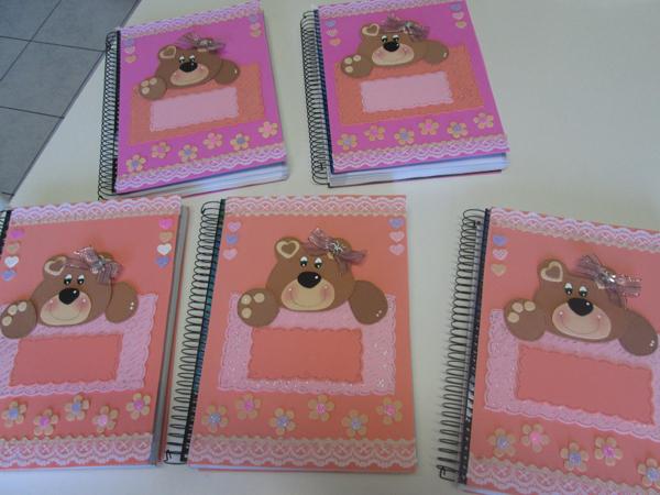 caderno em EVA ursas