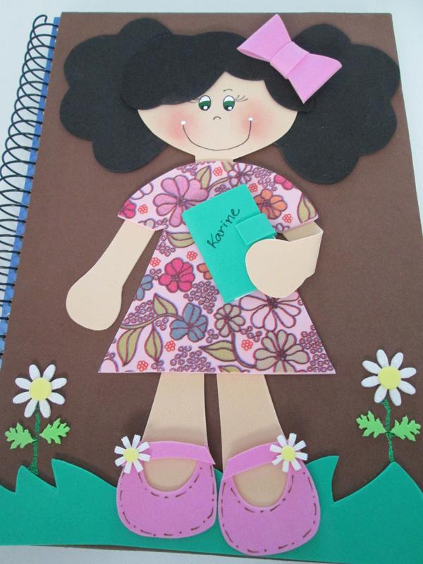 caderno em EVA garota