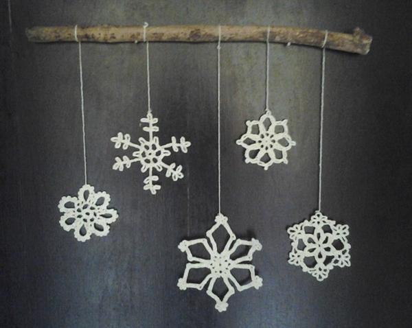 flocos de neve de croche