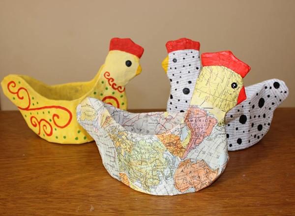 galinha papietagem