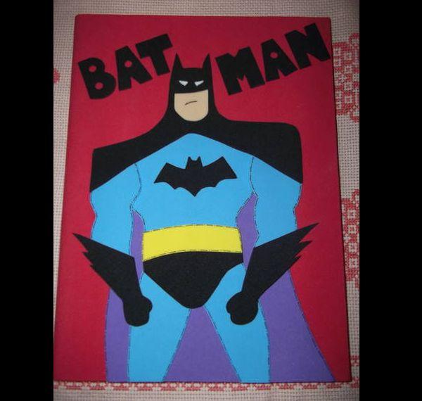 caderno em EVA Batman