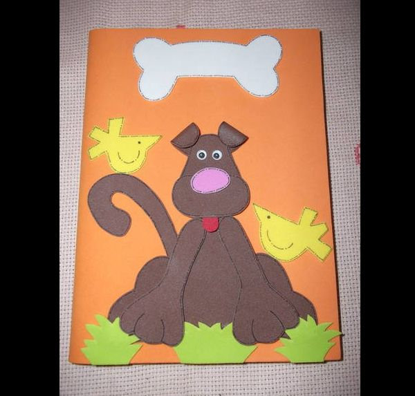 caderno em EVA cachorro