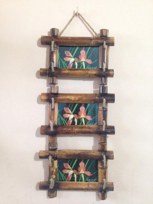 porta retrato caseiro bambu