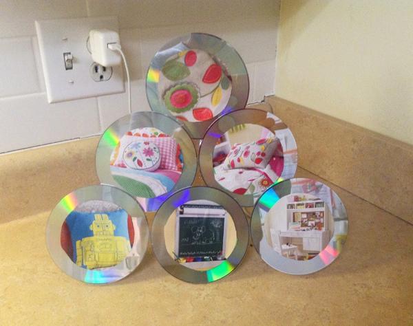 porta retrato caseiro com cd