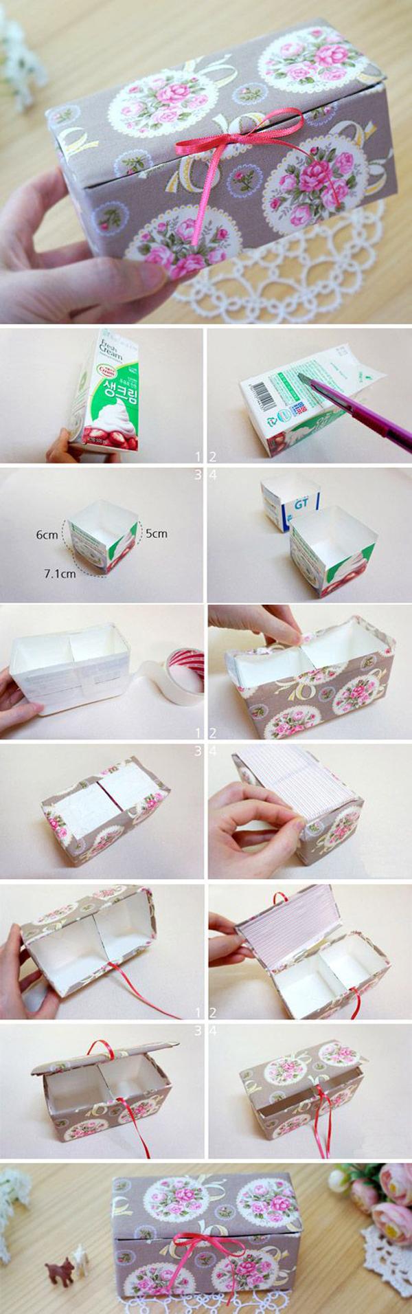artesanato de caixa de leite caixas