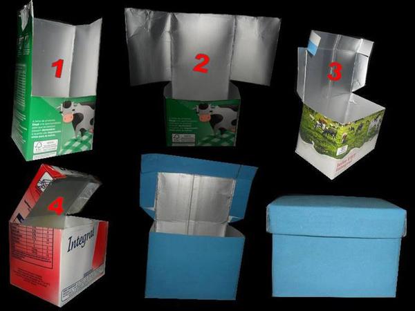 artesanato de caixa de leite caixinha