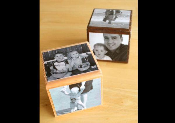 cubo Porta retrato em papelão