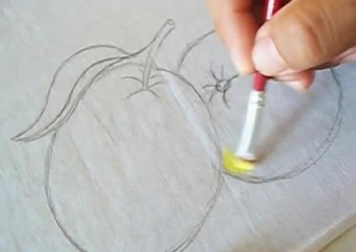 pintura no tecido tutorial