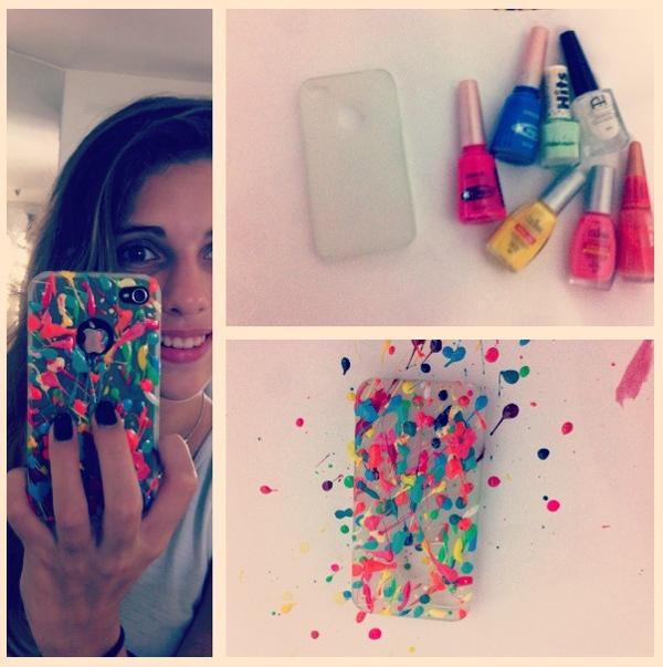 case de celular colorido