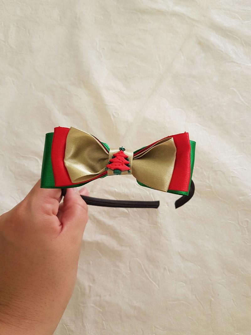laço natalino arco