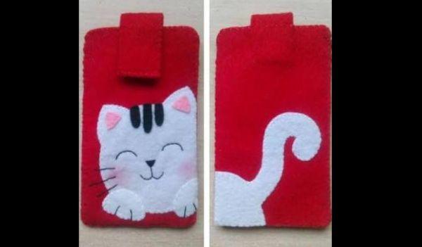case de celular gatinho