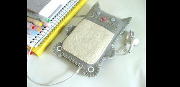 case de celular gato