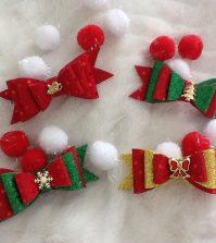 laço natalino triplo