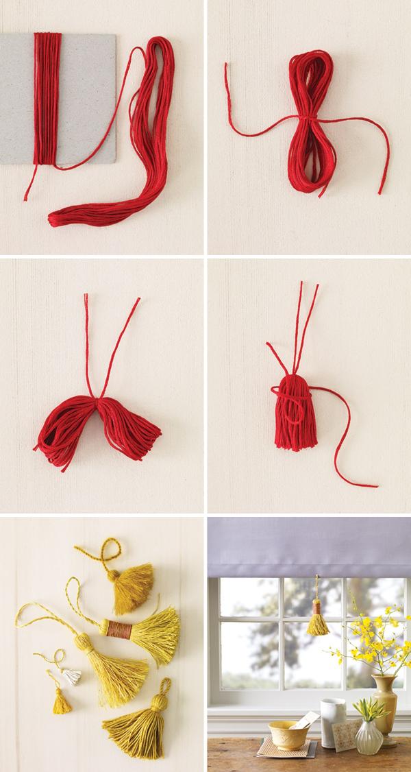 artesanato com linha pingente