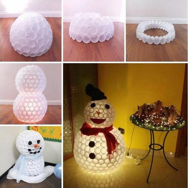 boneco de neve como fazer