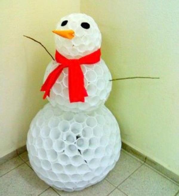 boneco de neve com galho