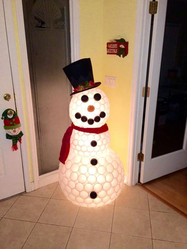boneco de neve iluminado