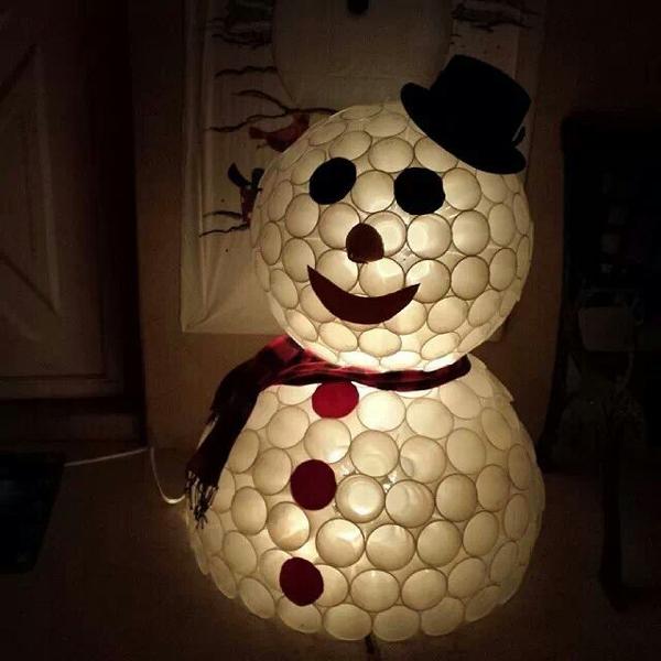boneco de neve com chapeu