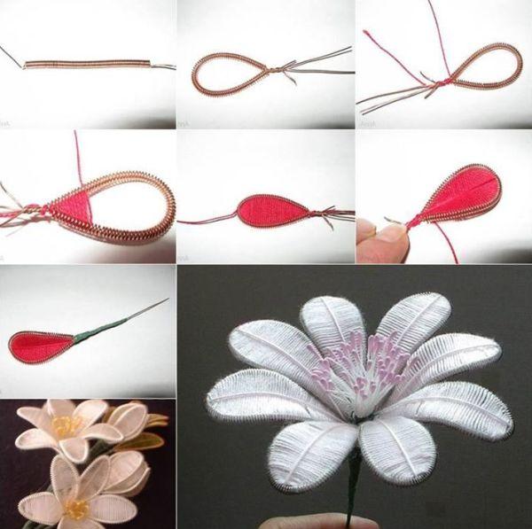 artesanato com linha florzinha
