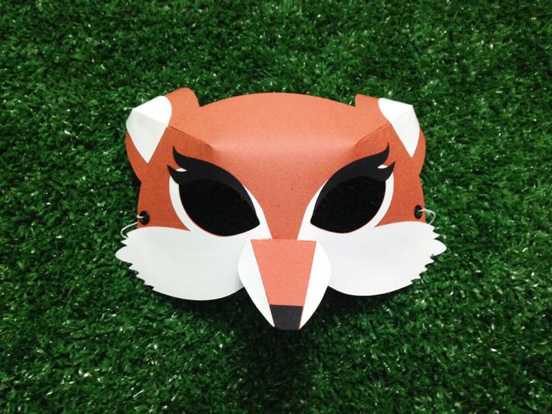 mascara de carnaval raposa