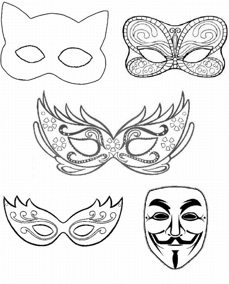 mascara de carnaval moldes