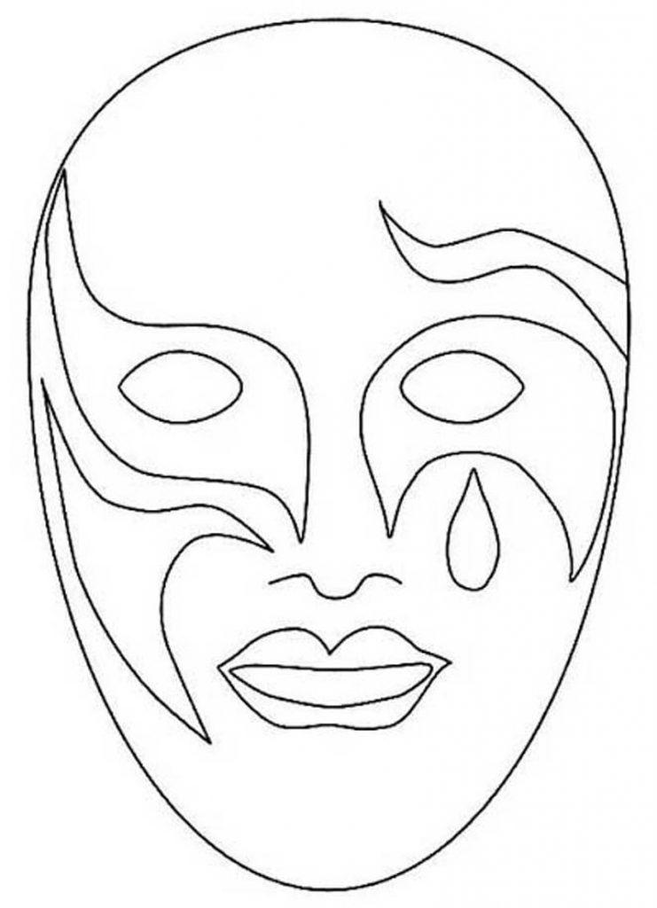 molde mascara de carnaval