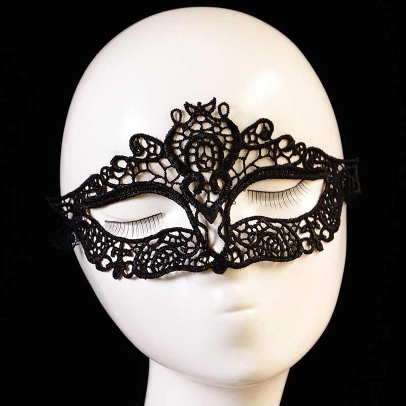 mascara de carnaval com renda