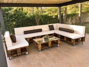sofá de palete chique