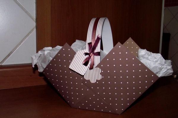 cesta de pascoa com laço