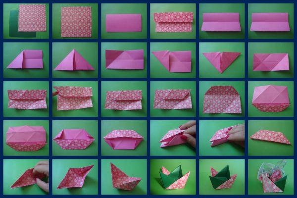 cesta de pascoa origami