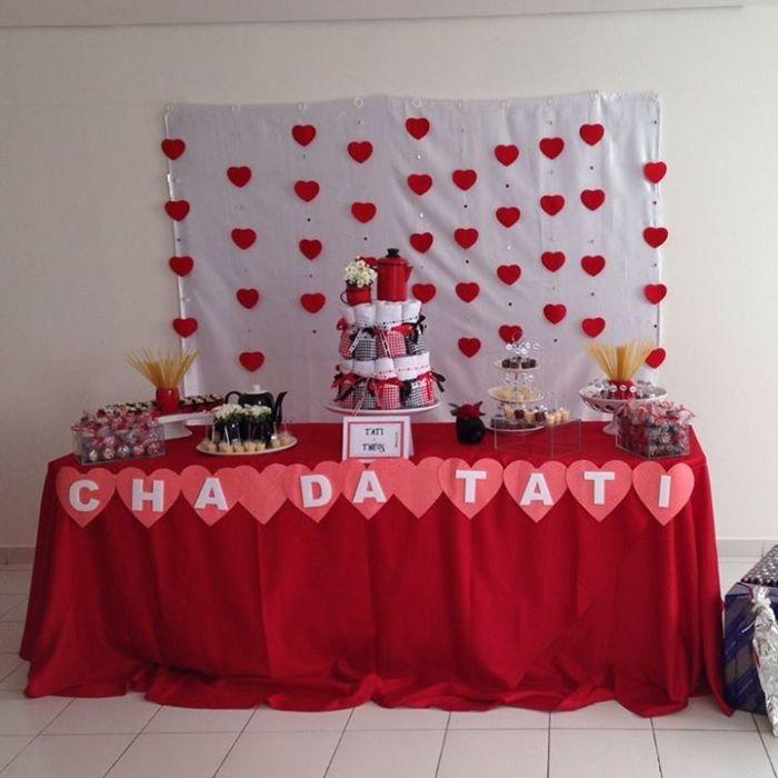 festa cortina de coração cha 14