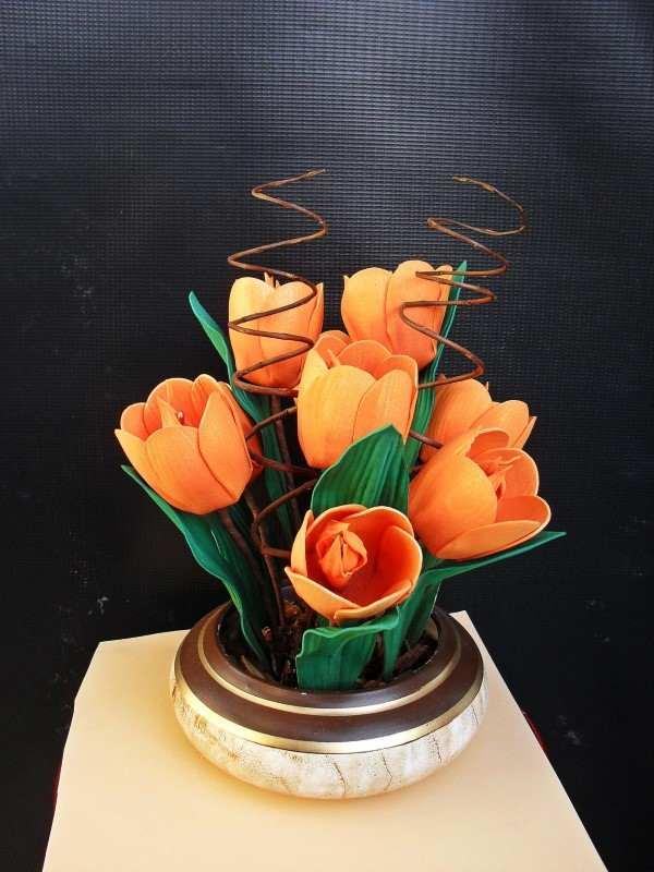 arranjo de tulipas
