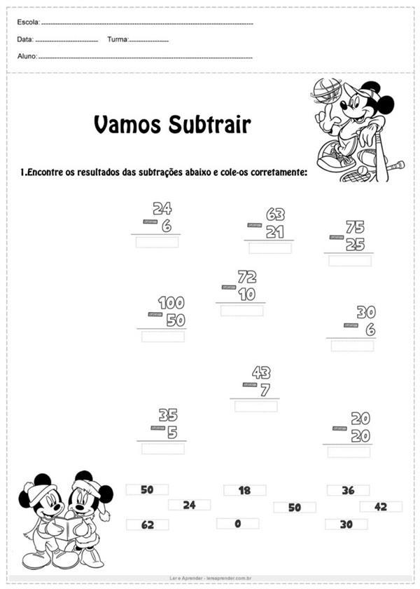 atividades de matemática 2 ano para imprimir