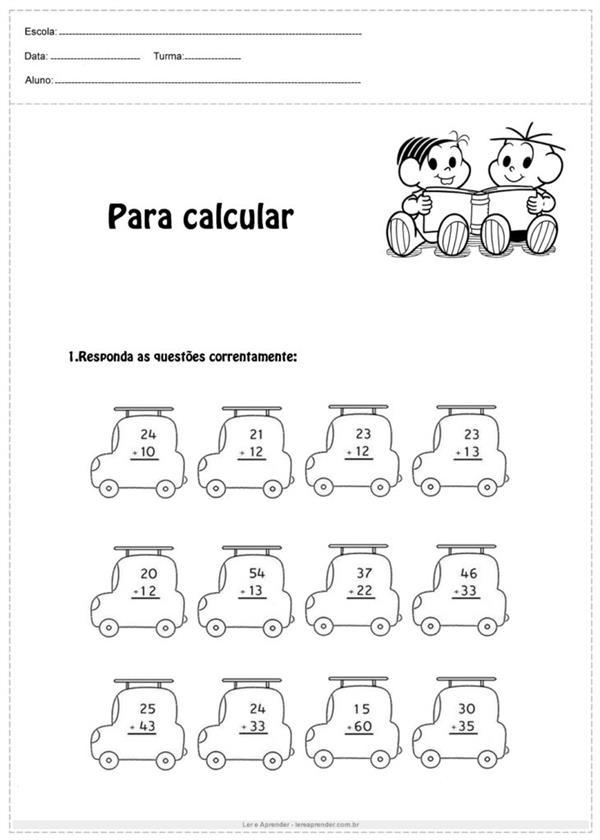 atividades de matemática 2 ano fundamental