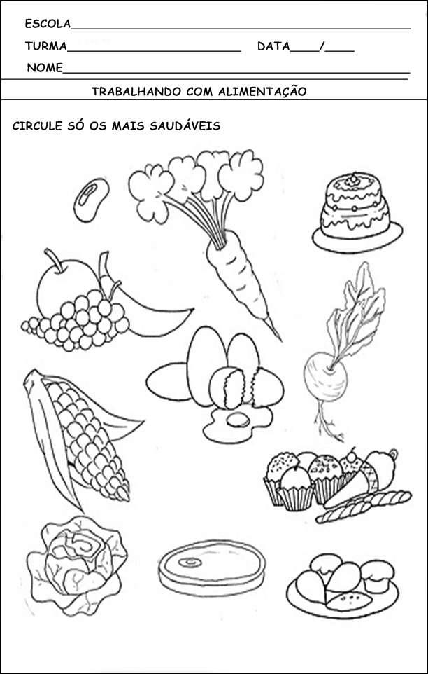 sugestões de atividades sobre alimentação saudável