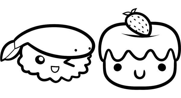 desenhos kawaii para colorir
