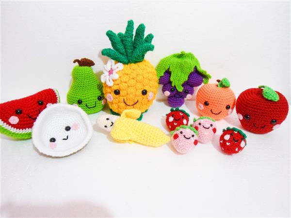 frutas de croche